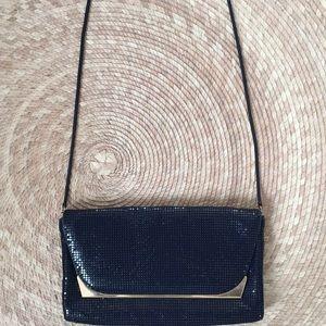 Handbags - Vintage blue glomesh metal mesh handbag